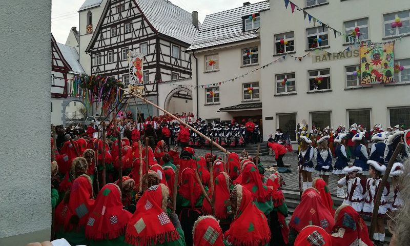 Narrenbaumstellen 2018